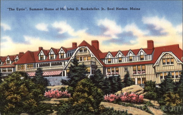 The Eyre Summer Home of Mr. John D. Rockefeller Jr. Seal Harbor Maine