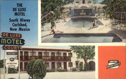 Building and Pool Area, The De Luxe Motel, South Hiway