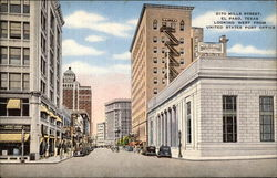 2170 Mills Street, Looking West from US Post Office Postcard