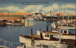 Scene at Inlet Showing US Coast Guard Station