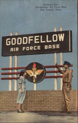 Entrance sign Goodfellow Air Force Base