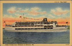 S.S. Bay Belle, Daily Cruises from Baltimore to Bettrton, Md