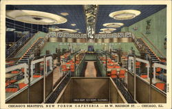 Chicago's Beautiful New Forum Cafeteria Postcard