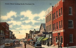 Center Street, Looking South Postcard