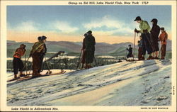 Group on Ski Hill in the Adirondack Mountains