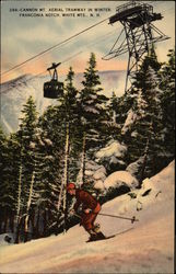 Cannon Mountain Aerial Tramway in Winter