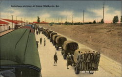Selectees Arriving at Camp Claiborne, La