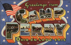 Greetings on Camp Perry Ohio on Lake Erie