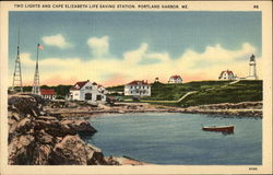 Two Lights and Cape Elizabeth Life Saving Station
