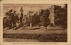 A Section of the Campus at William Woods College Postcard