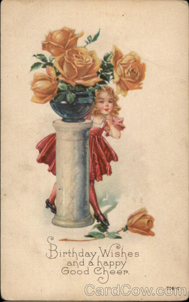 Girl behind podium with yellow roses
