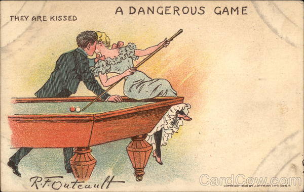 A Dangerous Game, They are Kissed R. F. Outcault Billiards