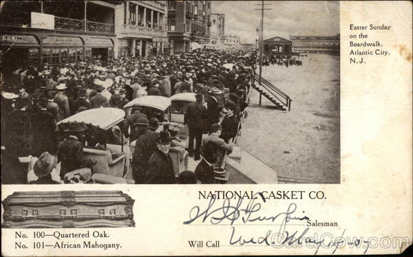 Easter Sunday on the Boardwalk, Atlantic City, N.J., National Casket Co