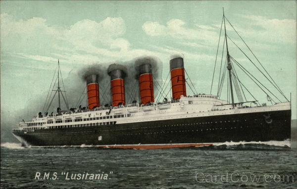R.M.S. Lusitania Steamers