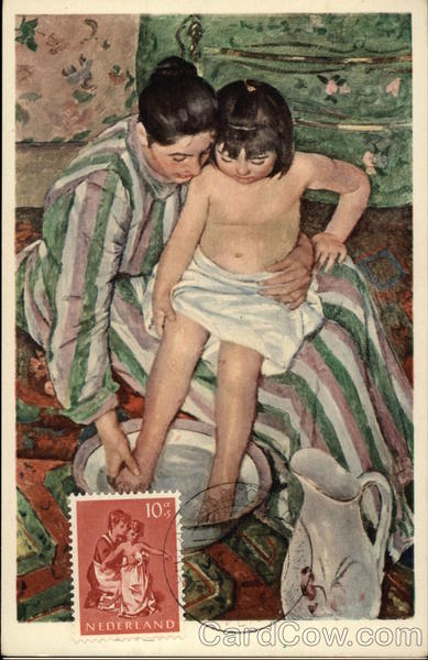 La Toilette by Mary Cassatt Art Maximum Cards