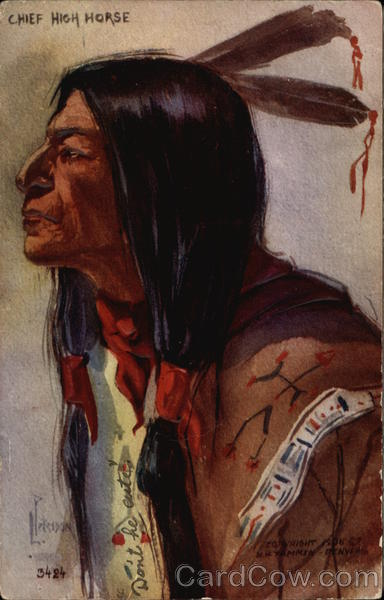 Chief High Horse Native Americana