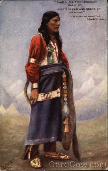 Clad in all Their Richest Raiment, Robes of Fur and Belts of Wampum, The Song of Hiawatha