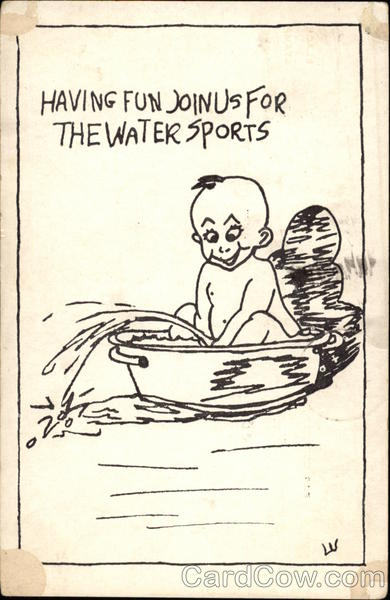 Having Fun, Join us for the Water Sports Comic, Funny