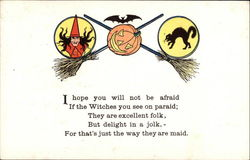 Halloween rhyme with witch and cat