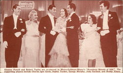 "Eleanor Powell and Robert Taylor - ""Broadway Melody"" 1938 Postcard"