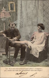 Risque French Shoemaker with Woman