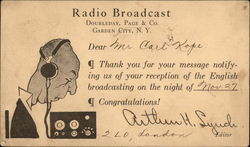 Radio Broadcast, Doubleday, Page & Co., Garden City, N.Y