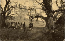 Taos Indians Playing Ball