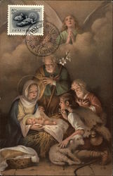 Madonna and Child surrounded by Joseph, Shepherd and Angel