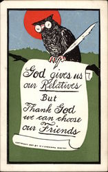 An Eagle with a Good Motto Postcard