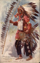 Streaked with Crimson, Blue and Yellow, Crested with Great Eagle Feathers, The Song of Hiawatha