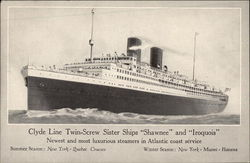 "Clyde Line Twin-Screw Sister Ships ""Shawnee"" and ""Iroquois"""