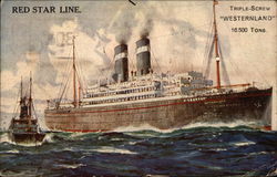 Red Star Line, Triple-Screw Westernland, 16,500 Tons
