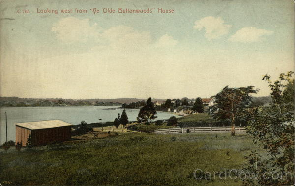 Looking West from Ye Olde Buttonwoods House Warwick Rhode Island