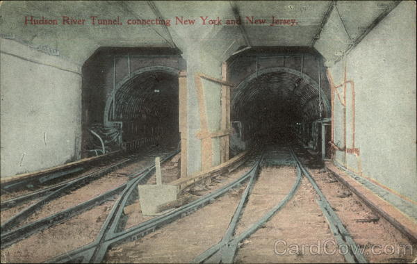 Hudson River Tunnel, Connecting New York and New Jersey New York City