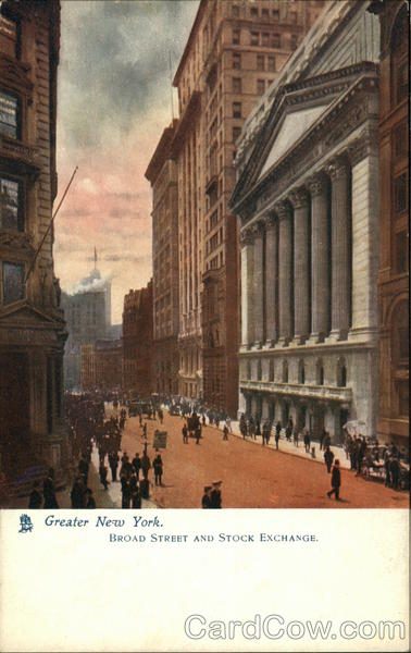 Broad Street and Stock Exchange New York