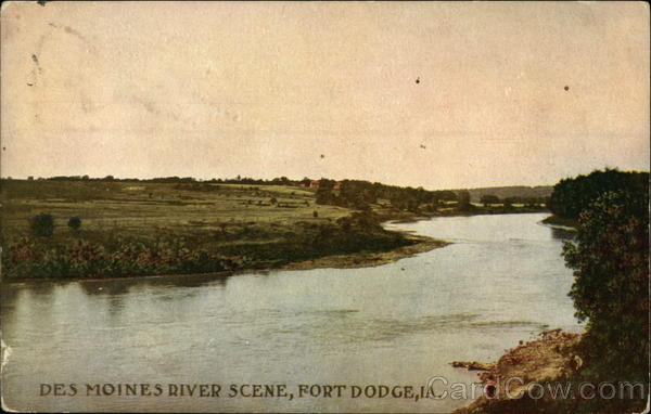 Des Moines River Scene Fort Dodge Iowa