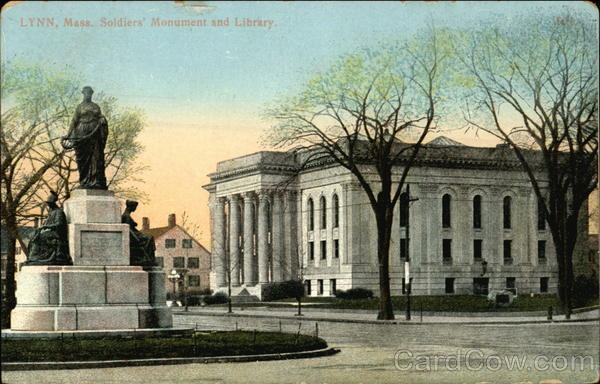 Soldiers Monument and Library Lynn Massachusetts