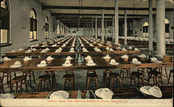 National Soldiers' Home - Interior, Mess Hall Danville Illinois