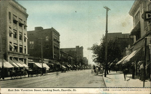 East Side Vermilion Street, Looking South Danville Illinois