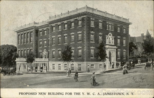 Proposed New Building for the Y.W.C.A Jamestown New York