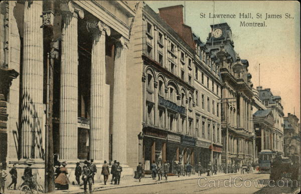 St. Lawrence Hall, St. James St Montreal Canada Misc. Canada