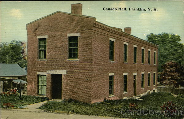 Canado Hall Franklin New Hampshire