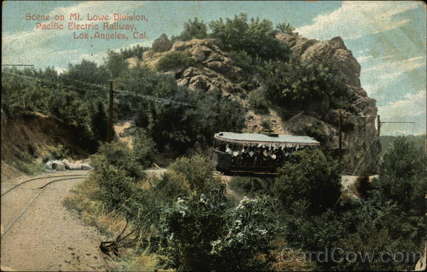 Scene on Mt. Lowe Division, Pacific Electric Hallway Los Angeles California