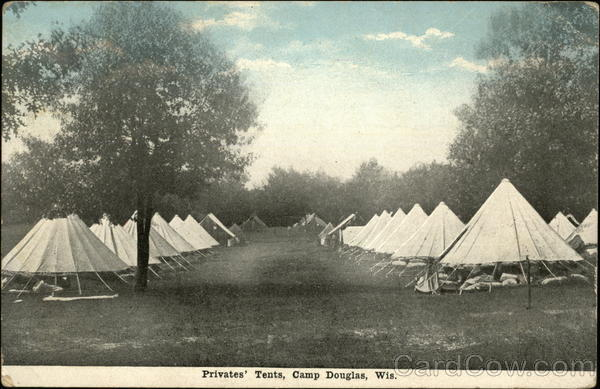 Privates' Tents Camp Douglas Wisconsin