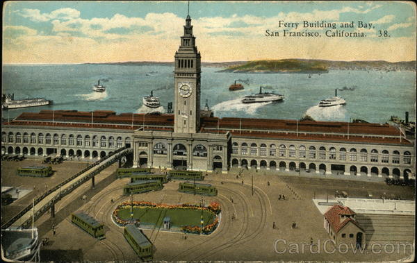 Ferry Building and Bay San Francisco California