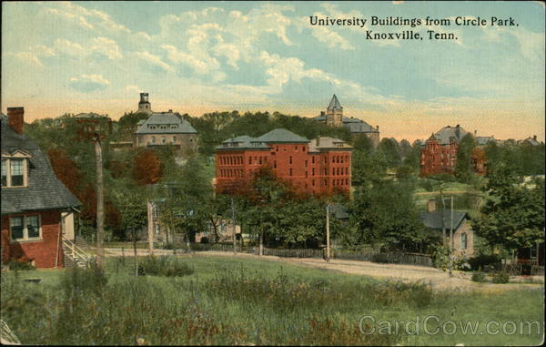 University Buildings from Circle Park Knoxville Tennessee