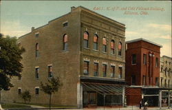 6461. K. of P. and Odd Fellows Building Postcard