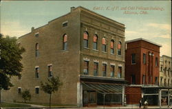 K. of P. and Odd Fellows Building Postcard