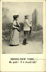Seeing New York By Gosh! If it Should Fall! Postcard