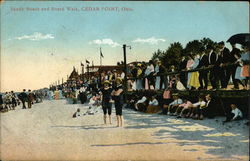 Sandy Beach and Board Walk Postcard
